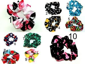 SCRUNCHIES Breast Cancer Star Peace Sign Paws Butterfly Kisses Bell Art Designs