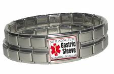 Gastric Sleeve Medical Alert Bracelet Stainless Steel Bariatric Patient Surgery