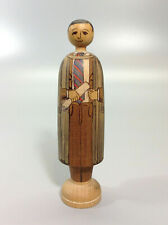 Vintage Hand Made & Decorated Tasmanian Wood Deepings Doll 4