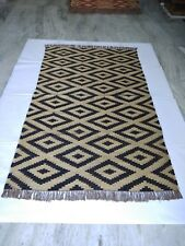 Hand Woven Jute Kilim Area Rug For Living Room Guest Room Bedroom 5x8 ft