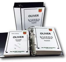 OLIVER 770 880 TRACTOR SERVICE REPAIR MANUAL PARTS CATALOG SHOP BOOK OVHL SET