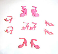Barbie Shoes Lot Of 5 Pairs Pink/Rose Shoes For Fashion Fever Barbie Dolls sh365
