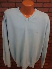 Tommy Hilfiger Mens V-Neck Sweater Pull-Over Blue XXL 2XL