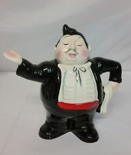 "J Luber Collector's Teapot by Roy Simpson ""THE MAITRE D"" EUC Rare 8"" Tall"