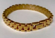 Rolex Stainless Steal Gold Plated Unisex BRACELET 8.3 Inc.