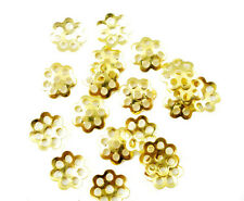 100 x Fiore Oro Antico Perline Estremità gioielli artigianali risultati - 6mm-B01215