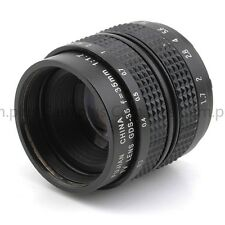 "2/3"" Television TV Lens/CCTV Lens for C Mount Camera 35mm F1.7 in Black"