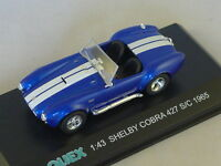 OLIEX - Shelby cobra 427 sc 1965 bleu bandes blanc 1/43