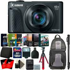 "Canon PowerShot SX740 HS Digital Camera + 62"" Monopod and Accessory Kit"