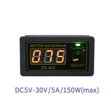 DC5-30V 5A PWM DC Motor Governor Digital display encoder duty cycle frequency