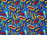 8 YARDS  MARVEL  DC COMICS  SUPERHERO ACTION WORDS  ZOOM ZAP POW WHAMM  FABRIC