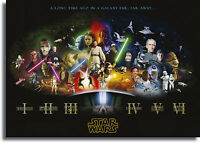 Star Wars Cast Movie Framed Giant CANVAS PRINT  - A0 A1 A2 A3 A4 Sizes