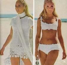1970's CROCHET BOOK ~ 150 VINTAGE PATTERNS BIKINI SHAWLS HALTER TOPS HATS AFGHAN