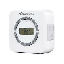 DEWENWILS Indoor Digital Outlet Light Timer 7 Day Programmable Plug in HDTI22A