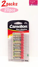 2x Pack of 10pcs Camelion AAA Batteries Plus Alkaline 1.5V High Energy