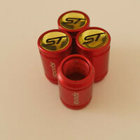 ST METAL SPORTS Valve Dust caps all Cars 7 COLOURS RED KUGA FOCUS FIESTA LINE