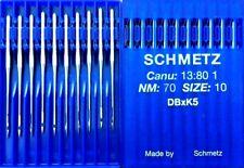 SCHMETZ DBXK5 CANU1380 1NM70 SIZE10 EMBRO1DERY INDUSTRIAL SEWING MACHINE NEEDLE