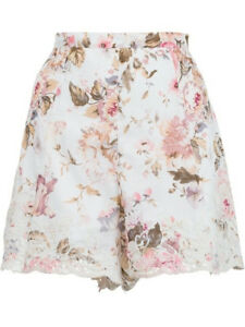 ZIMMERMANN EDEN EMBROIDERED FLARED SHORT-SIZE:0-BRAND NEW W/TAG-MSRP:$315