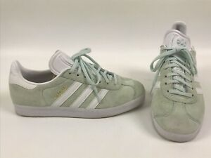 Adidas Gazelle Women's Size 8.5 mint suede sneaker shoes