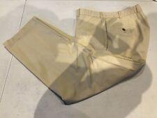 Brooks Brothers Men's Beige COTTON Chino Pants Waist 36 Inseam 28 $98