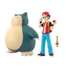 Bandai Pokemon Scale World KANTO RED & ASH SNORLAX & FLUTE 1/20 Figure Set