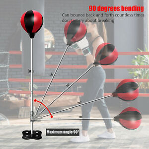 Free Standing Adjustable Adult Punch Bag Boxing Speed Ball Reflex Gym Set UK