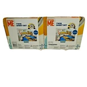 2 Sets of Minions Despicable Me Twin Sheet Set Microfiber Ultra Soft - New