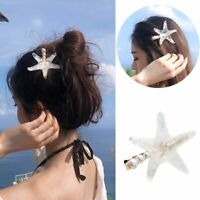 Women Crystal Pearl Starfish Hairpin Wedding Hair Accessories Hair Clip Jewelry