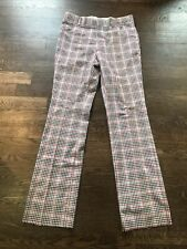 Vintage Deadstock Plaid Golf Pants 38 Waist Red White Plaid Checked Slacks