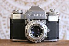 CONTAFLEX Zeiss Ikon Rangefinder 35mm Film Camera, Carl Tessar 50mm f2.8 Lens