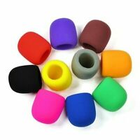 Handheld Stage Microphone Windscreen Soft Foam Cover for Round Mic - 10 Pack