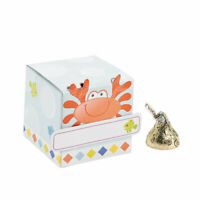 Pack of 12 - Mini Under The Sea Boxes with Name Tags - Small Party Gift Boxes