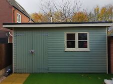 16x10 FT (4.5 x 3.5m) LARGE PENT T&G HEAVY DUTY WOODEN STORAGE SHED WORKSHOP