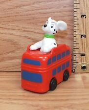 Genuine Disney 101 Dalmatian Puppy Riding Red Double Decker Bus Toy Only *READ*