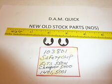 TWO NEW (NOS)  DAM QUICK SAFETY CLIP PN# 103-801 FIT 550N,CHAMP 5000,1401,5001