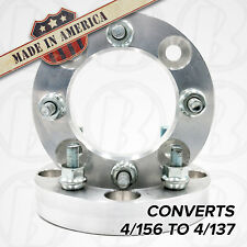 """2 pc. 4x156 to 4x137 Wheel Adapters/Spacers 1.25"""" Thick for Polaris & Yamaha ATV"""