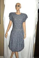 Vintage 70s Outlines Debora Kuchne Backless Dress Floral Muted sz 8
