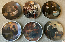 Norman Rockwell Plates (Lot of 6) Knowles Fine China 1977-81 8.5� First Editions