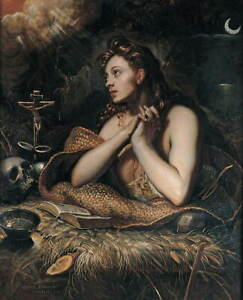 Jacopo Tintoretto Penitent Magdalene Poster Reproduction Giclee Canvas Print