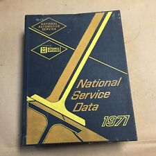 1971 National Service Data universal shop/service repair manual Chevy/Ford/Dodge