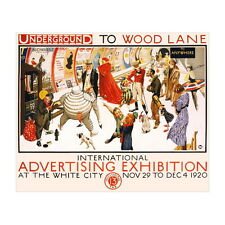 International Advertising Exhibition 1920 Ad Poster Deco Magnet, Fridge Magnet