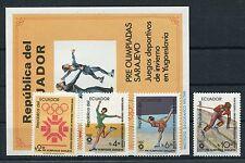 Ecuador 1961/64 Block 110 postfrisch / Olympiade .........................1/1550