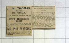 1921 Jh Thomas, Tobacconist, The Terrace, Penzance,phil Watkins Hairdresser