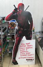 Deadpool 2 Movie 7/11 SLURPEE CARDBOARD STAND-UP DISPLAY ***OVER 5 FEET TALL***