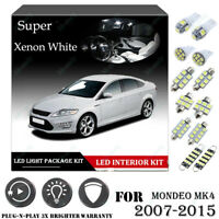 12x For Ford MONDEO MK4 07-15 Xenon White 6K Car Interior LED Light Package Kit
