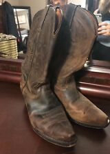 Authentic cowboy boots. Brown leather upper. Women's Size 8.5.