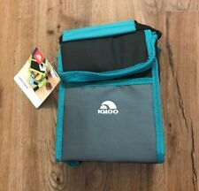 Igloo Insulated Handled Lunch Box Teal Black Grey NEW