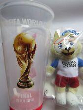 Cup Becher Gobelet + Mascotte FIFA Coupe du monde 2018 Final France - Croatia