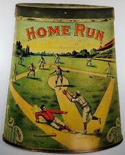 HOME RUN BASEBALL PLAYER SLIDES TO HOME PLATE TOBACCO HEAVY DUTY METAL ADV SIGN