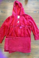 "Vintage Gymboree ""Glamour Kitty"" 2 Piece Red Velour Set In Size 5"